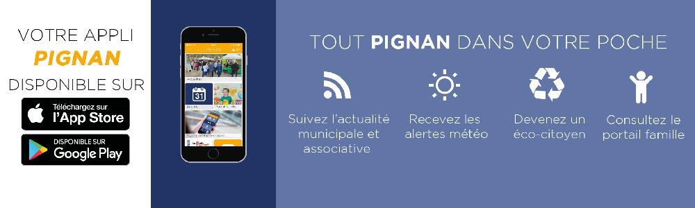 Téléchargez l'application mobile Ville de Pignan